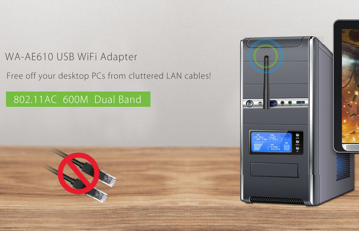 WiFi, Dual Band USB WiFi Adapter, Networking
